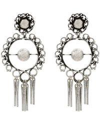 DANNIJO - Hoop Earrings With Tassels - Lyst