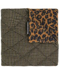 Balenciaga - Houndstooth And Leopard Print Scarf - Lyst
