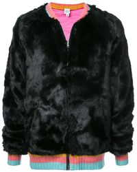 The Elder Statesman - Faux fur bomber jacket - Lyst
