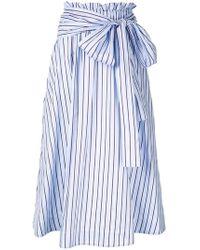 Rosetta Getty - Striped Midi Skirt - Lyst