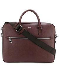 BOSS - Logo Zipped Laptop Bag - Lyst