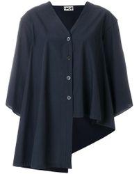 Hache - Draped Asymmetric Shirt - Lyst