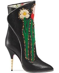 Gucci - Leather Boots - Lyst 71bc19ff95