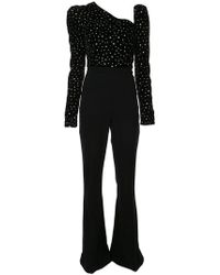 Christian Siriano - Crystal Embellished Flared Jumpsuit - Lyst