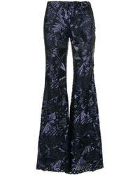 P.A.R.O.S.H. - Sequin Embellished Flared Trousers - Lyst