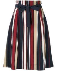 Loveless - Striped Full Skirt - Lyst