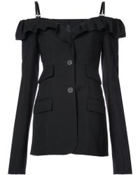 Vera Wang - Cold-shoulder Fitted Jacket - Lyst