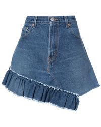 Icons - Reconstructed Levi's 501 Skirt - Lyst