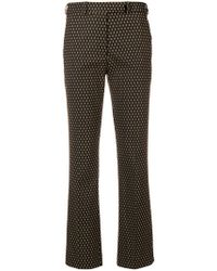Etro - Cropped Straight Leg Trousers - Lyst