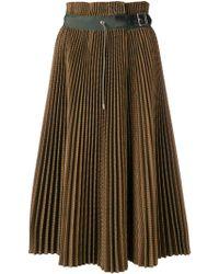 Sacai Jupe plissée à design tissé