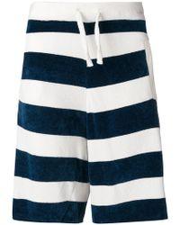 Laneus - Striped Track Shorts - Lyst