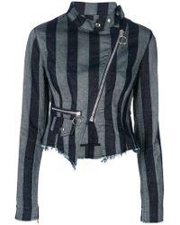 Marques'Almeida - Striped Biker Jacket - Lyst
