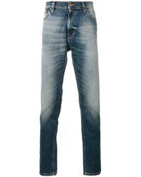 Nudie Jeans - Vaqueros slim lavados a la piedra - Lyst