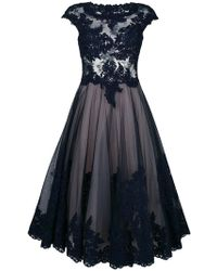 Olvi ́S - Flared Lace-embroidered Dress - Lyst