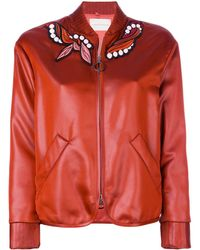Marco De Vincenzo - Embroidered Patch Bomber Jacket - Lyst