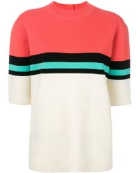 Marc Jacobs - Stripe Detail Knitted Top - Lyst