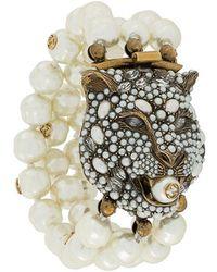 Gucci - Feline Head Bracelet - Lyst