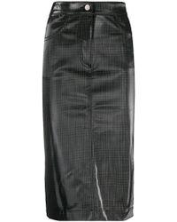 Andrea Ya'aqov - Longuette Waxed Skirt - Lyst
