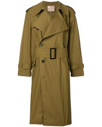 Erika Cavallini Semi Couture - Belted Waist Trench Coat - Lyst