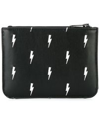 Neil Barrett - Lightning Bolt Print Wallet - Lyst
