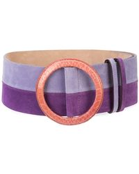 Carolina Herrera - Contrast-buckle Striped Belt - Lyst