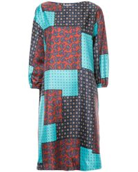Astraet - Patch-work Flared Dress - Lyst