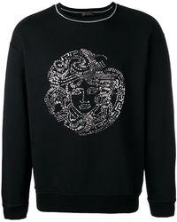 Versace | Sequin Medusa Head Sweatshirt | Lyst
