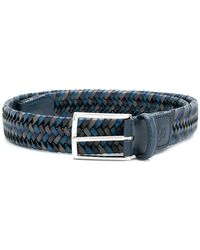 Canali - Woven Buckled Belt - Lyst