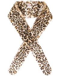 Shrimps - Leopard Printed Wide Scarf - Lyst