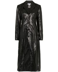 Beaufille - Magna Cotton-blend Vinyl Trench Coat - Lyst