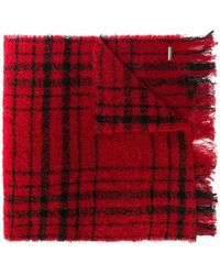 Woolrich - Checked Pattern Scarf - Lyst