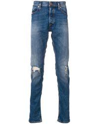 DIESEL - Skinny-Jeans in Distressed-Optik - Lyst