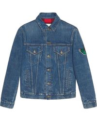 Gucci - Denim Jacket With Embroideries - Lyst