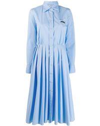 Prada - Pleated Shirt Dress - Lyst