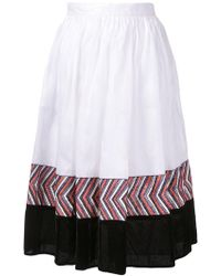 Jupe by Jackie - Panelled Midi Skirt - Lyst