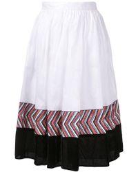 Jupe by Jackie - Panelled Midi Skirt - Lyst