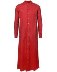 Nude - Long Shirt Coat - Lyst