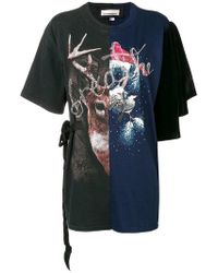 Night Market - Printed Panel T-shirt - Lyst