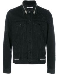 Givenchy | Zip Trim Denim Jacket | Lyst