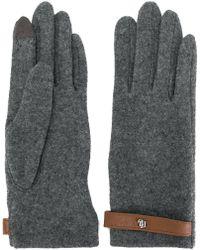 Lauren by Ralph Lauren - Strap Detail Gloves - Lyst