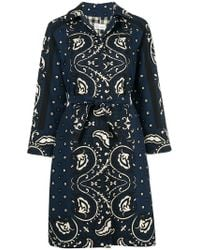 RED Valentino - Loose Fit Printed Coat - Lyst