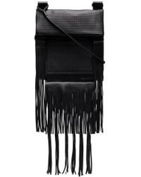 Saint Laurent - Leather Messenger Bag - Lyst