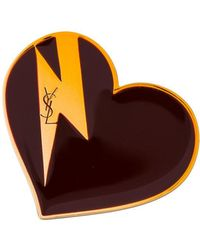 Saint Laurent - Heart & Bolt Brooch - Lyst