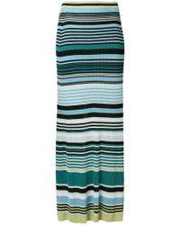 Diesel Black Gold - Striped Ribbed Skirt - Lyst