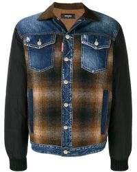eac411e89c1d77 Dsquared² Distressed Denim Jacket in Blue for Men - Lyst