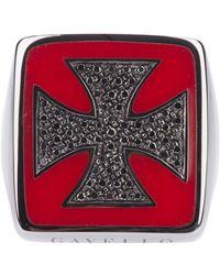Gavello - Gold Cross Ring - Lyst