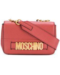 Moschino - Small Logo Flap Bag - Lyst