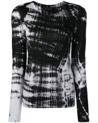 Diesel Black Gold - Long-sleeve T-shirt With Tie-dyed Stripes - Lyst