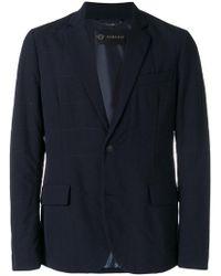 Versace - Chest Pocket Quilted Blazer - Lyst