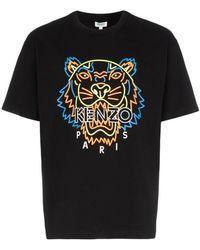 f292462cd KENZO - Neon Tiger Print T-shirt - Lyst